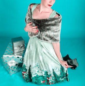 Dresses & Skirts - Winter retro pinup swing dress